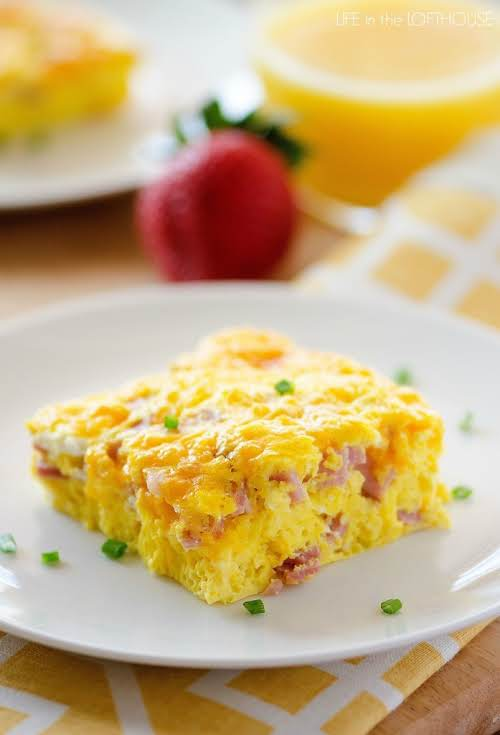 "Click Here for Recipe: Baked Ham and Cheese Omelette ""This baked omelette..."