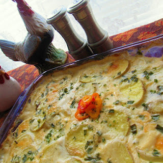 Beer Cheesy Scalloped Potatoes