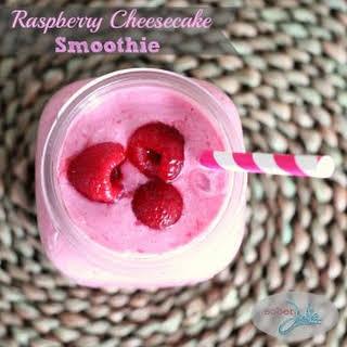 Raspberry Cheesecake Smoothie.