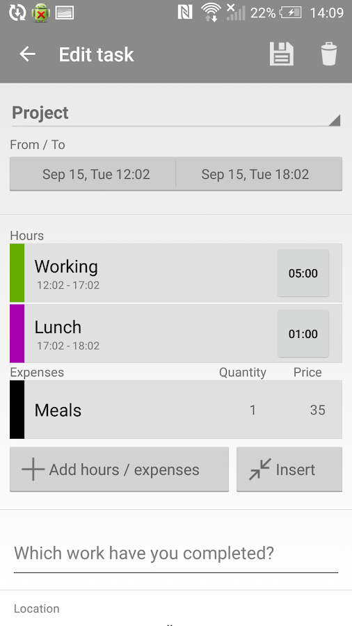 Mobile Worker - Time tracker- screenshot