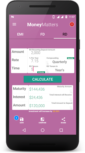 Loan Calculator-EMI, RD & FD Calculator screenshot 3