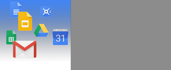 Floating Google Apps logos