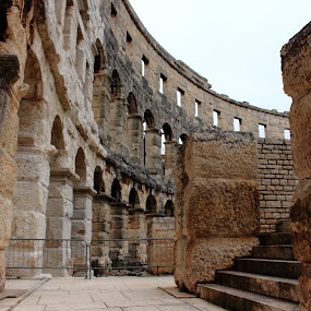 Pula Roman Arena by Ansari Joshi - Buildings & Architecture Public & Historical ( theatre, monument, historical, architecture, roman )