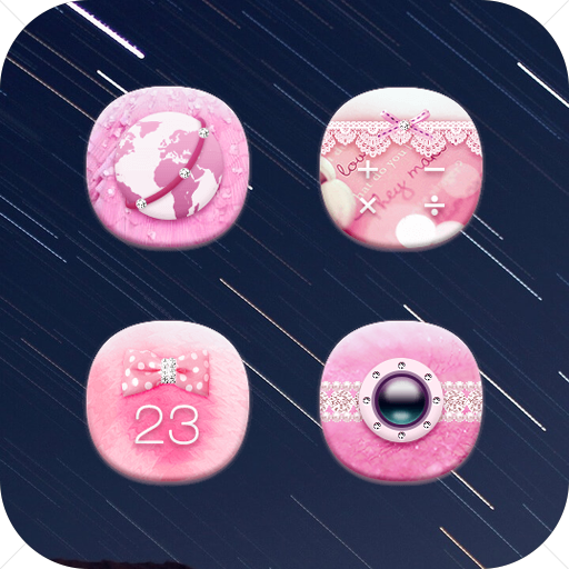 Young Girl Pinkbow Icon Pack