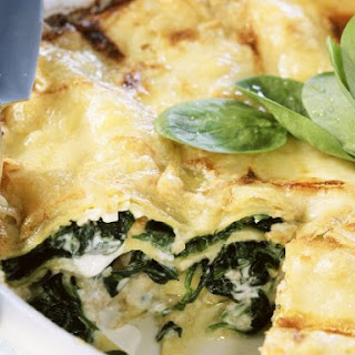 Creamy Green Leaf and Pasta Bake.