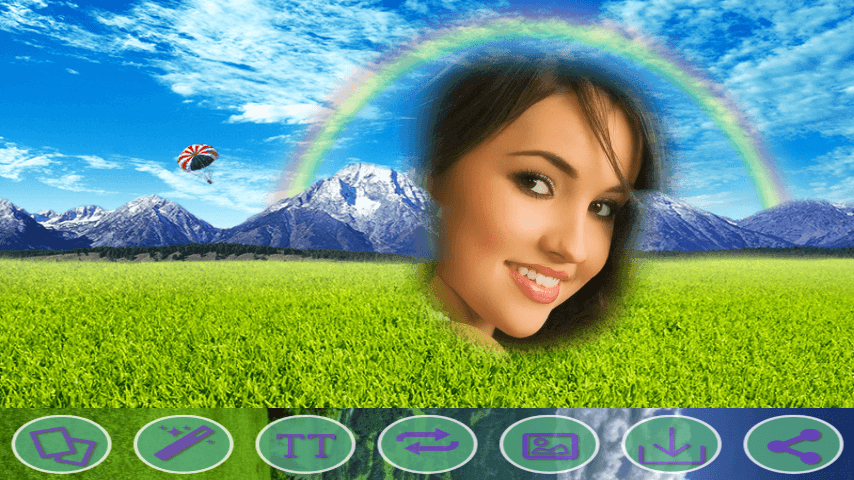 android Rainbow HD Photo Frames Screenshot 2