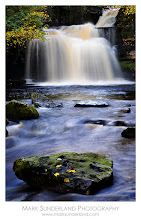 Photo: West Burton Falls  My favourite waterfall, West Burton Falls in Wensleydale is pictured here one autumn in full flow after heavy rain.  Canon EOS 5D, 24-105mm at 90mm, ISO 100, 1s at f22