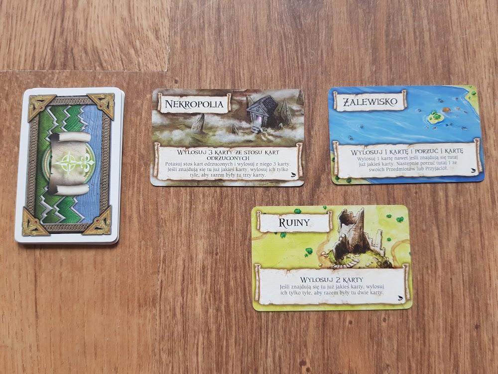 Talisman Zwiastun - zastępcze karty terenu