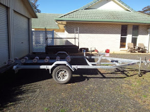 Photo: Purchased a used, custom built, double jet ski trailer to modify for the Adventure Islands (AI)