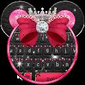 Minny Cute Pink Bowknot Keyboard icon