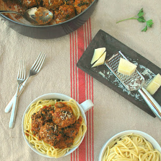 Classic Italian Meatballs with Spinach & Mushrooms