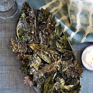Crispy Kale with Lemon-Yogurt Dip