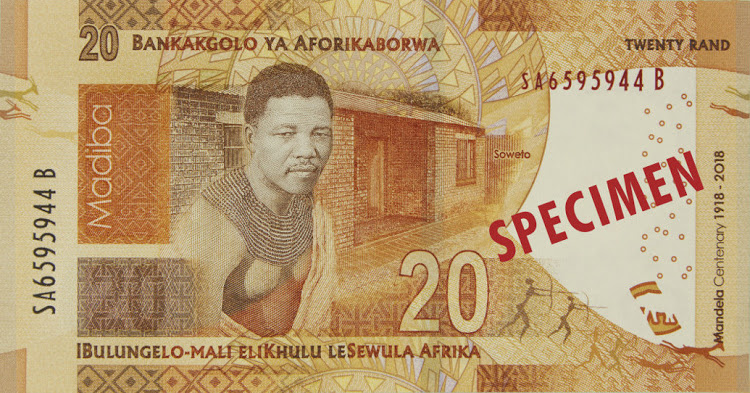 The new Mandela R20 banknote.