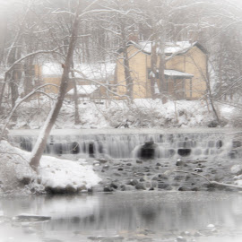 Winter Waterfall by John Berry - Buildings & Architecture Other Exteriors