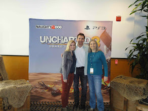 Photo: Uncharted's stars Emily Rose and Nolan Ramsey North join Naughty Dog's Creative Director Amy Hennig to kick off the competition.
