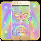 Thème de clavier Rainbow Pink Rose Unicorn icon