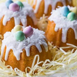 Mini Coconut Pound Cakes.