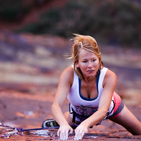 Amber in Richness by Ryan Skeers - Sports & Fitness Climbing ( climbing, girls, rock climbing, girls climbing, richness of it all )