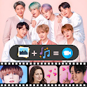 Bts Video Maker: Photo Slideshow With Music icon
