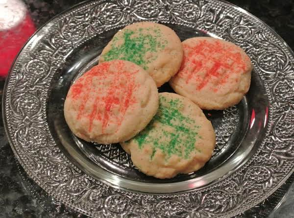 Traditionally, Our Family Has Added Christmas Colored Sugar To The Tops Of These Yummy, Lightly Cinnamon Flavored Butter Cookies.
