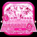 Pink Sparkle Diamond Keyboard Theme icon