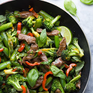 Lime Beef and Basil Stir Fry