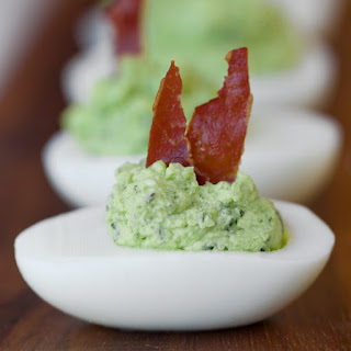 Deviled Green Eggs and Ham