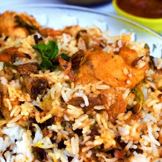 Hyderabadi Dum Chicken Biriyani.