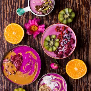 Pink Dragon Fruit Smoothie Bowls