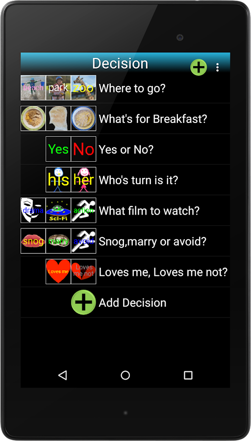Decision Maker- screenshot