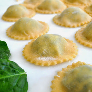 Spinach and Ricotta Filled Ravioli