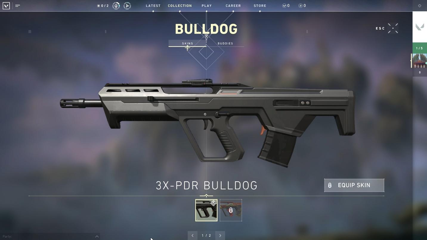 Bulldog rifle top weapons in valorant