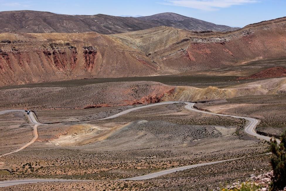 Droga z Purmamarca do Salinas Grandes