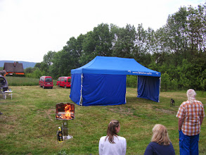 """Photo: Also...im vergleich zu den letzten Treffen ist dieses Zelt dann doch eher etwas für die """"gehobenen"""" Ansprüche."""