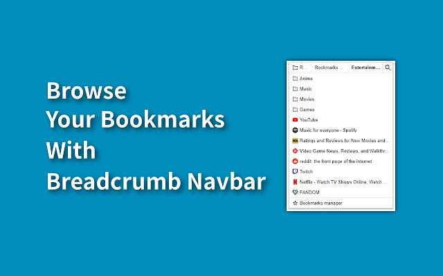 Quick Bookmarks Menu