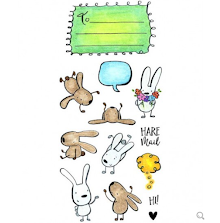 Inky Antics Clear Stamp Set - Hare Mail UTGÅENDE