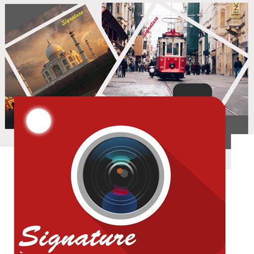 對照片自動簽名蓋章 攝影 App LOGO-硬是要APP