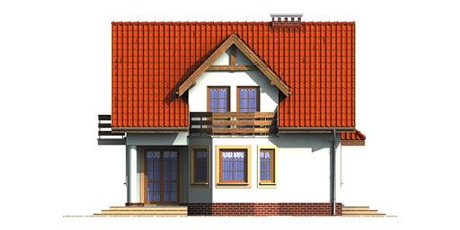 Dom przy Kalinowej - Elewacja lewa