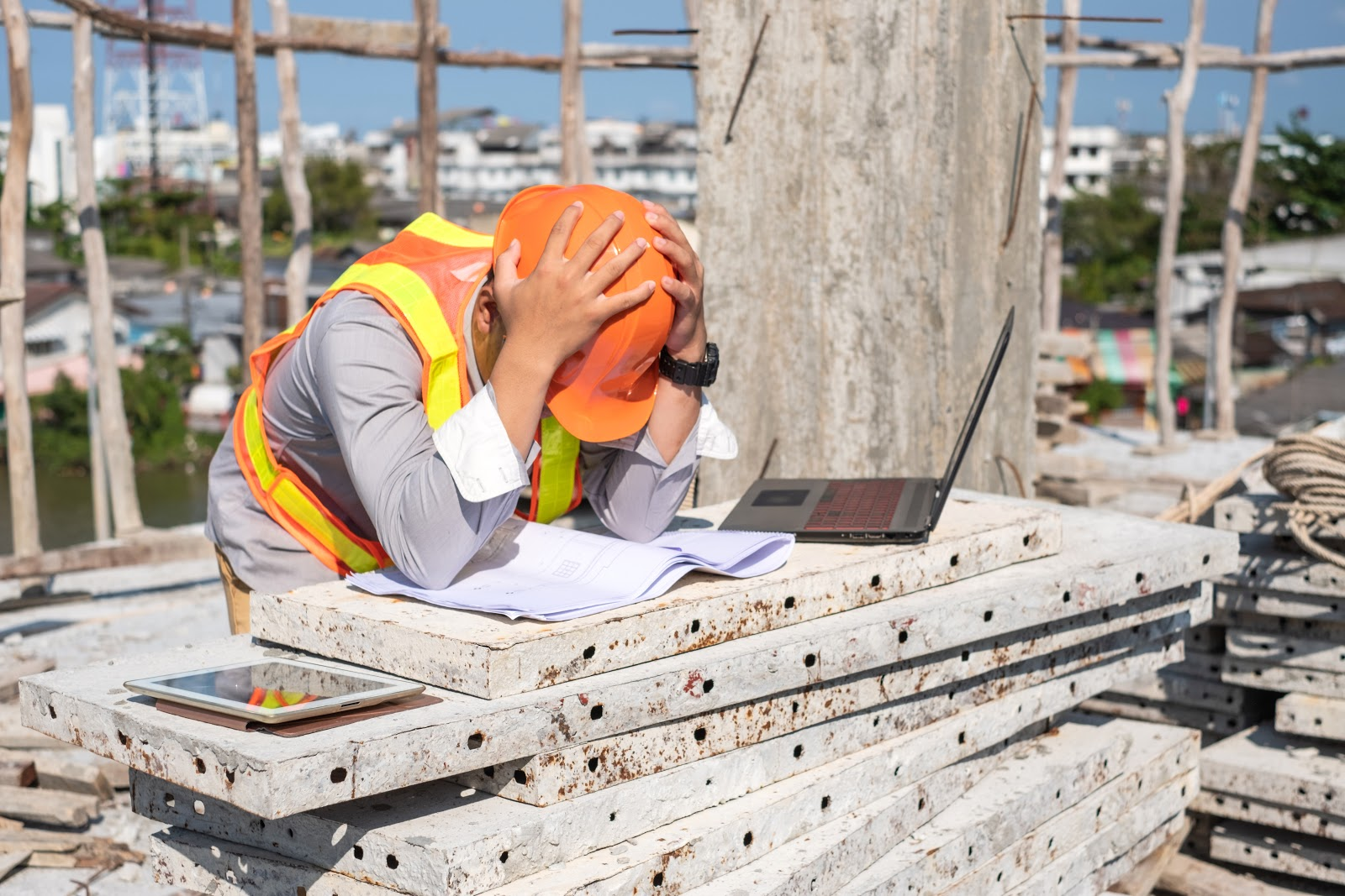 electrolyte imbalance: construction worker experiencing a headache