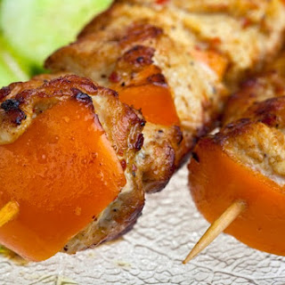 Pork And Sweet Potato Kabobs.