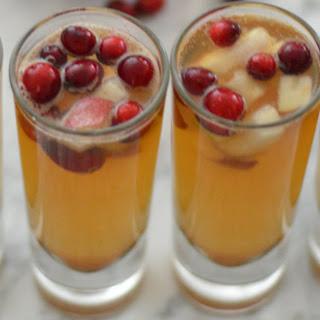 Winter Sangria W. Apples, Pears + Cinnamon.