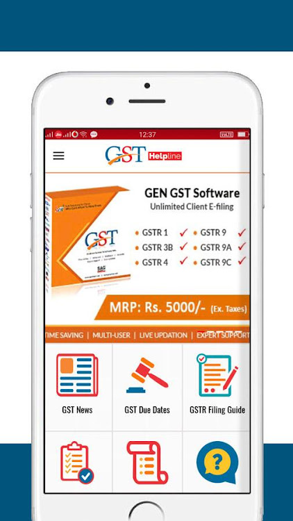 GST Helpline (GSTR Filing & GST Due Dates) – (Android