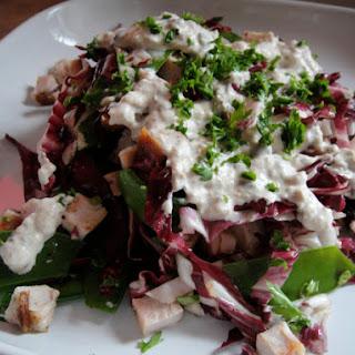 Radicchio, Turkey, and Snow Pea Salad.