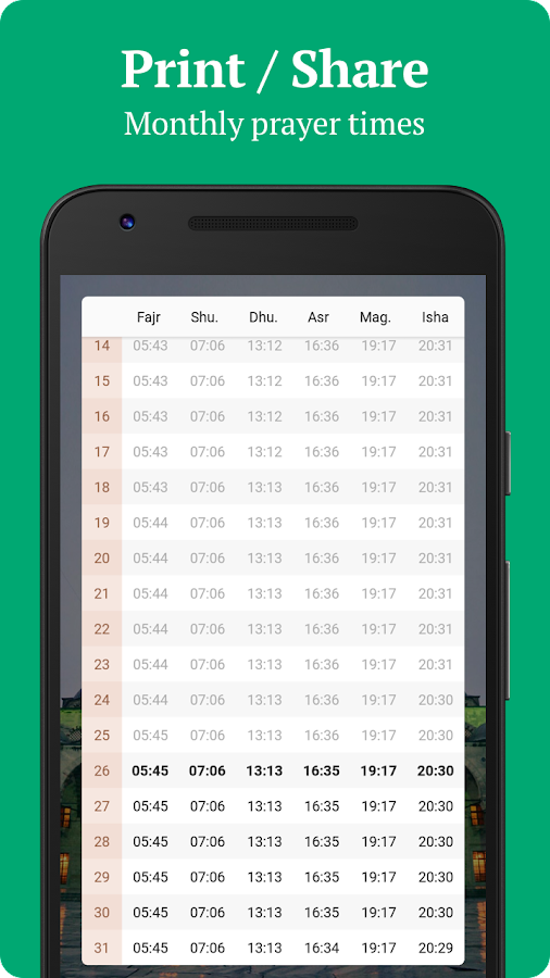 Sajda - Prayer times, Quran, Azan & Qibla- screenshot