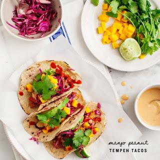 Mango Peanut Tempeh Tacos