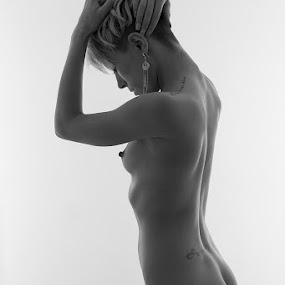 Tunnel Vision by Ray Akey - Nudes & Boudoir Artistic Nude ( studio, body, nude, monochrome, bob, scape, bodyscape, jewelry, emotive, beauty, skin, short, hands, naked, bum, bottom, hair,  )