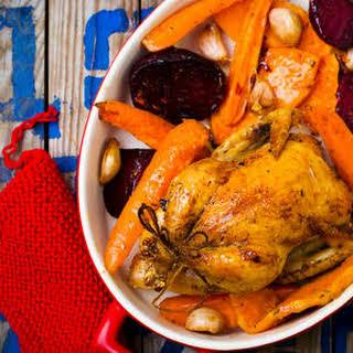 Roasted Chicken & Vegetables.