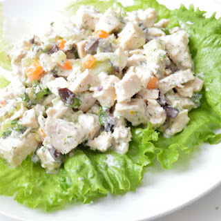 Greek Chicken Salad Lettuce Wraps