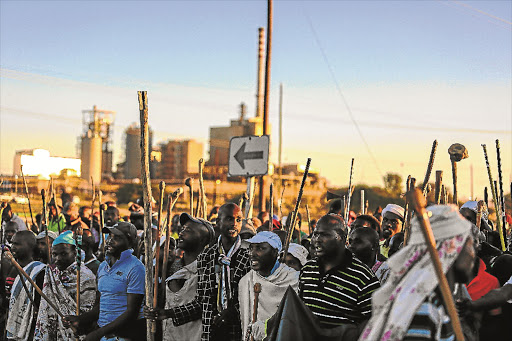 Marikana: A watershed moment for the NUM and Amcu. Picture: THE TIMES