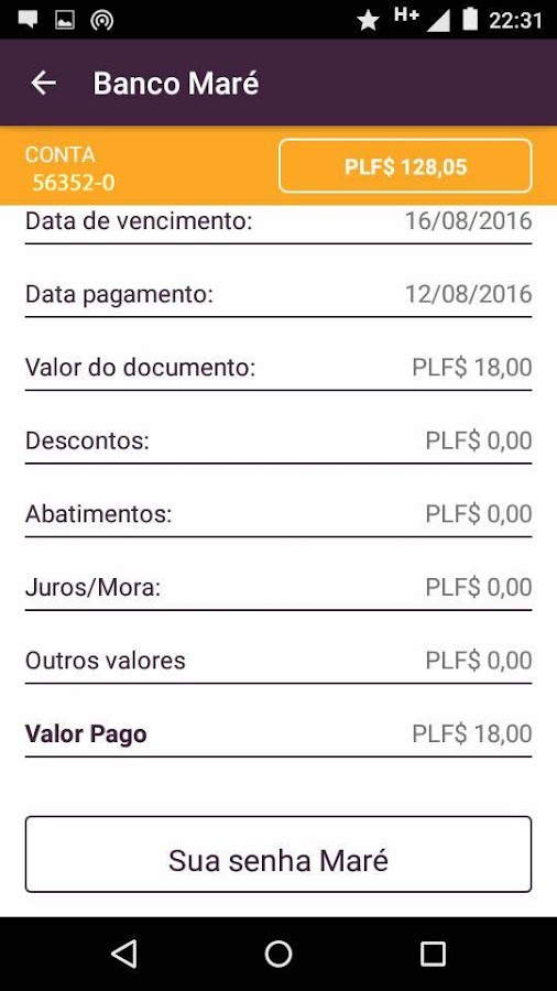 Banco Maré- screenshot